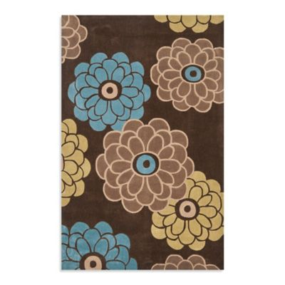 Safavieh Modern Art 7-Foot Square Rug in Brown/Tan