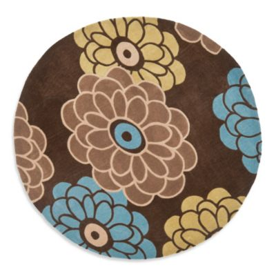 Safavieh Modern Art 7-Foot Round Rug in Brown/Tan