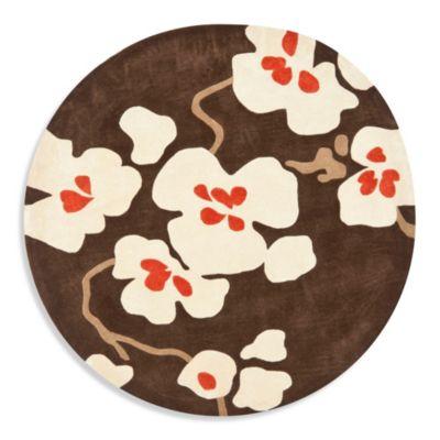 Safavieh Modern Art 7-Foot Round Rug in Brown/Ivory