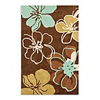 Modern Art Rug Collection in Brown/Teal