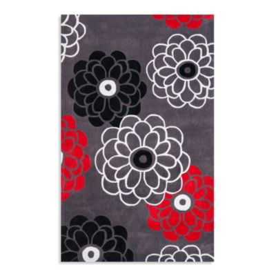 Safavieh Modern Art 5-Foot x 8-Foot Rug in Grey/Red