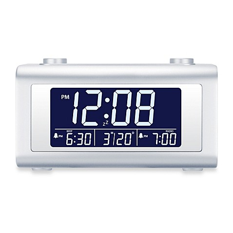 nelsonic automatic time set digital alarm clock radio. Black Bedroom Furniture Sets. Home Design Ideas