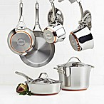 Anolon® Nouvelle Copper Stainless Steel 10-Piece Cookware Set and Open Stock