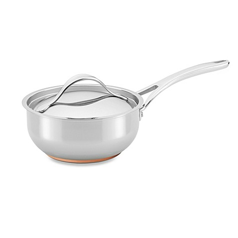 Anolon® Nouvelle Copper Stainless Steel 2.5-Quart Covered Saucier