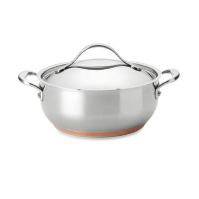 Anolon® Nouvelle Copper Stainless Steel 4-Quart Covered Chef Casserole
