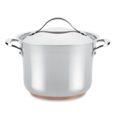 Anolon® Nouvelle Copper Stainless Steel 6.5-Quart Covered Stockpot