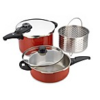 Fagor® Cayenne 5-Piece Stainless Steel Pressure Cooker Set in Red