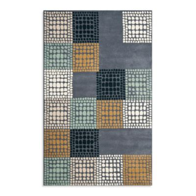 Safavieh Wyndham Gia 7-Foot Round Hand-Tufted Wool Rug in Grey/Multi