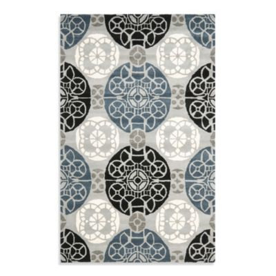 Safavieh Wyndham Irina 2-Foot 3-Inch x 9-Foot Hand-Tufted Wool Runner in Grey/Black