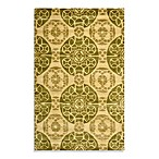 Safavieh Wyndham Irina Hand-Tufted Wool Rug in Honey/Green