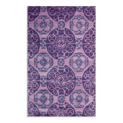 Safavieh Wyndham Irina 7-Foot Square Hand-Tufted Wool Rug in Purple