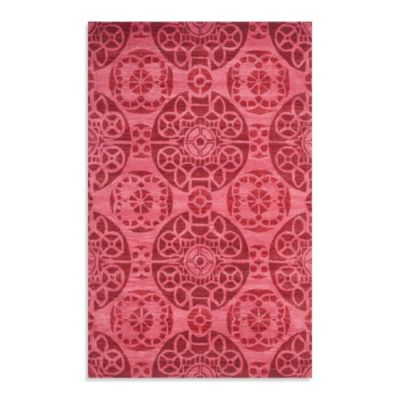 Safavieh Wyndham Irina 4-Foot x 6-Foot Hand-Tufted Wool Accent Rug in Red