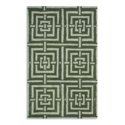 6 x 9 Safavieh Green Wool Rug
