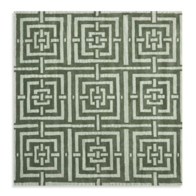 Safavieh Wyndham Euclid 7-Foot Square Hand-Tufted Wool Rug in Sage Green