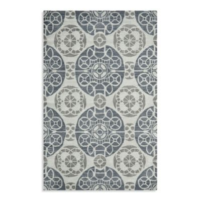 Safavieh Wyndham Irina 7-Foot Square Hand-Tufted Wool Rug in Silver/Blue