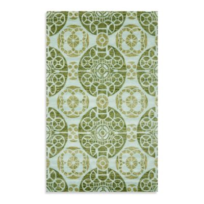 Safavieh Wyndham Irina 2-Foot 6-Inch x 4-Foot Hand-Tufted Wool Accent Rug in Turquoise/Green