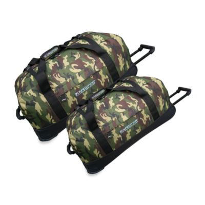 Traveler's Club Xpedition 36-Inch Rolling Duffle in Green Camouflage