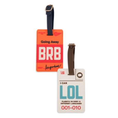 "Flight 001 Cyber ""BRB"" Luggage Tag"