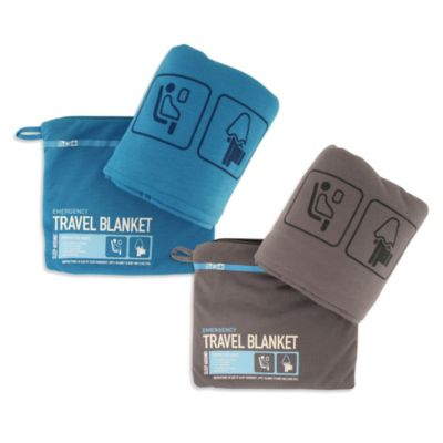 Flight 001 Travel Emergency Blanket in Blue