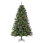 4.5-Foot x 34-Inch Natural Cut Jefferson Pine Tree Pre-Lit with 250 Clear Lights