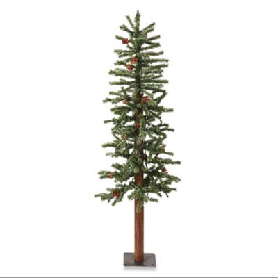 Vickerman 3-Foot Frosted Alpine Tree with Clear Lights