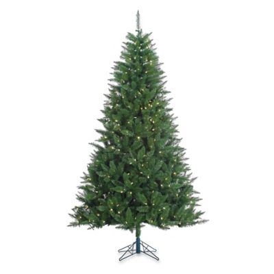 Vickerman 7.5-Foot 52-Inch Lincoln Fir Tree with White LED Lights