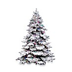 Vickerman 6.5-Foot 62-Inch Flocked Alaskan Pine Tree with Clear Lights