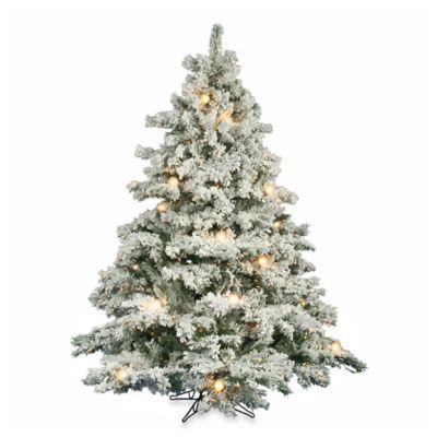 Vickerman 6.5-Foot Flocked Alaskan Pine Tree with Multicolor Lights
