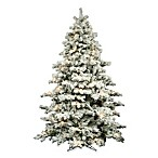 Vickerman 7.5-Foot 68-Inch Flocked Alaskan Pine Tree with Clear Lights