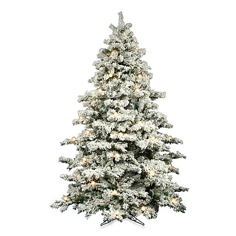 Vickerman 7 5 Foot Flocked Alaskan Pine Pine Pre Lit