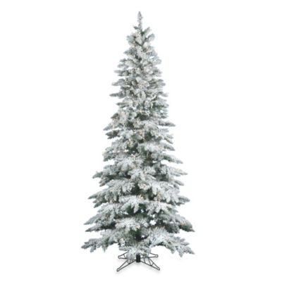 Vickerman 6.5-Foot Flocked Utica Fir Tree with White LED Lights
