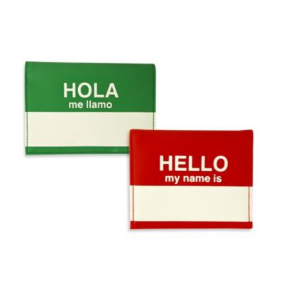 "Flight 001 ""Hello My Name Is"" Passport Wallet/Cover in Red"