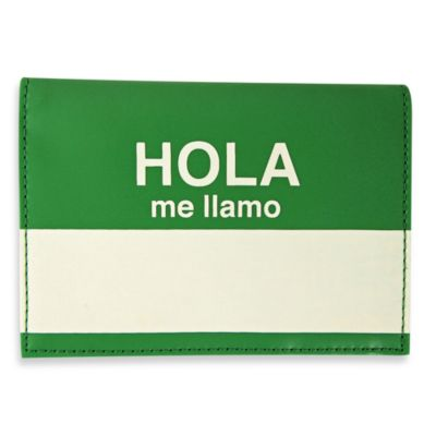 "Flight 001 ""Hola Me Llamo"" Passport Wallet/Cover in Green"