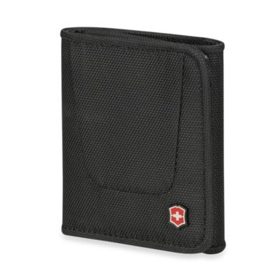 Victorinox® Deluxe Tri-Fold Travel Wallet in Black
