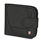 Victorinox® Deluxe Bi-Fold Travel Wallet in Black
