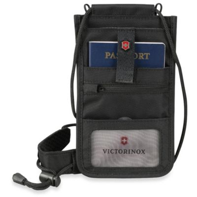 Victorinox Travel Document Neck Pouch in Black