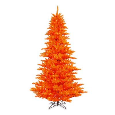 Vickerman 6.5-Foot Orange Fir Tree with Orange Mini Lights
