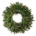 Vickerman 30-Inch Cashmere Pine Wreath with White LED Lights