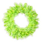Vickerman 30-Inch Cashmere Wreath in Lime with Lime Lights