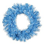 Vickerman 30-Inch Cashmere Wreath in Baby Blue