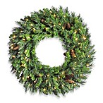 Vickerman 24-Inch Cheyenne Pine Wreath with Clear Lights