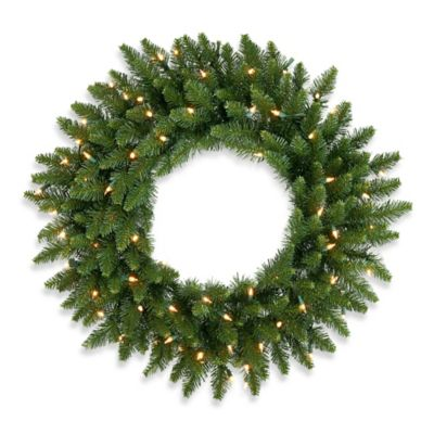 Vickerman 30-Inch Camdon Fir Wreath with Clear Lights