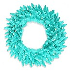 Vickerman 24-Inch Aqua Fir Wreath with Aqua Mini Lights