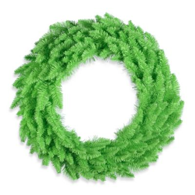 Vickerman 24-Inch Lime Wreath with Lime Mini Lights