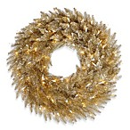 Vickerman 24-Inch Champagne Wreath with Clear Mini Lights