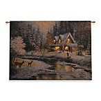 36-Inch x 26-Inch Family At Deer Creek Fiber Optic Wall Hanging