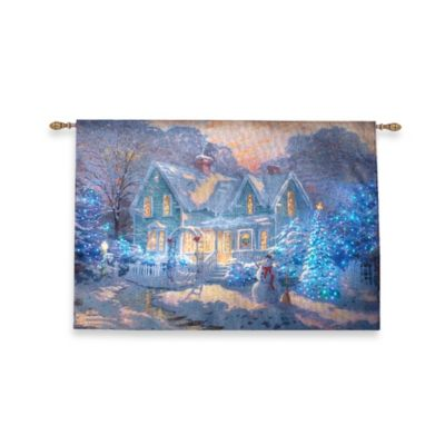 36-Inch x 26-Inch Blessings for Christmas Fiber Optic Wall Tapestry