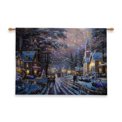 Christmas Fiber Optic Wall Tapestry