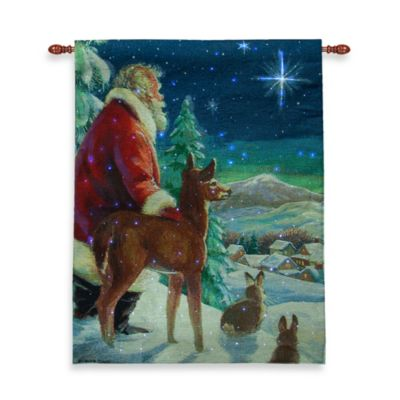 26-Inch x 36-InchSilent Night Fiber Optic Wall Tapestry