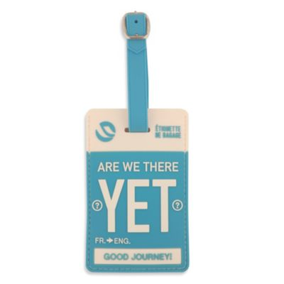 "Flight 001 ""Are We There Yet"" Luggage Tag"